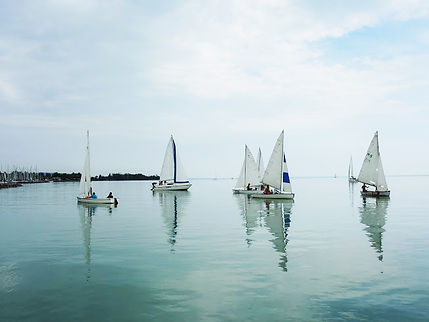 sailing dinghies on lake Balaton