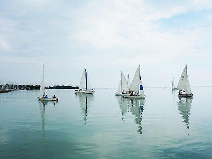 sailing dinghies on lake Balaton