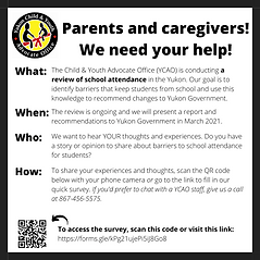 We Need Your Help (Parent_Caregiver Surv