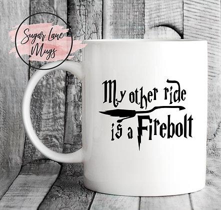 My Other Side is a Firebolt Harry Potter Mug