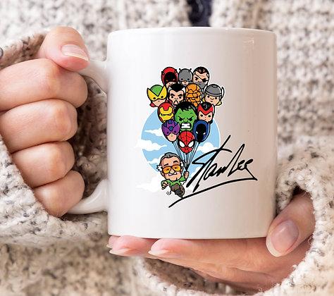 Stan Lee Up Inspired Marvel Avengers Mug