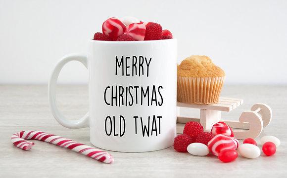 Merry Christmas Old Twat Mug