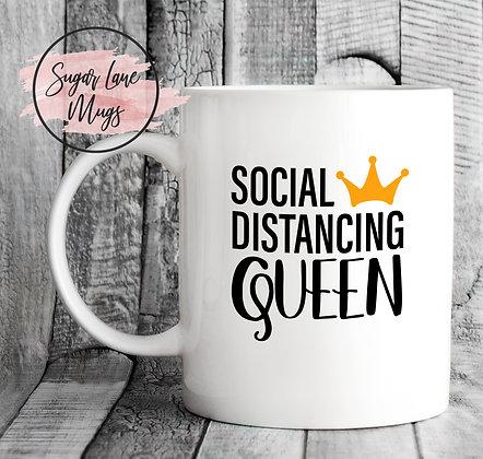 Social Distancing Queen Mug