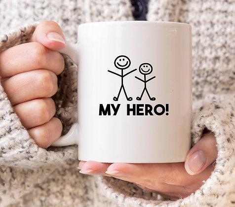 My Hero Fathers Day Mug
