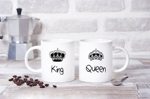 King and Queen Twinpack Mugs (x2)