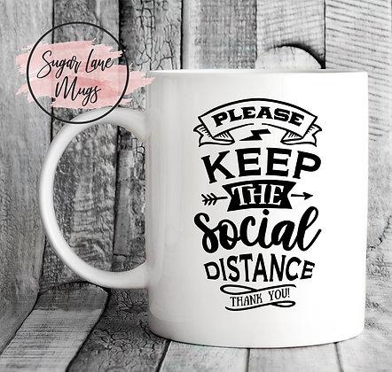 Please Keep The Social Distance NHS Mug