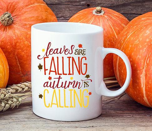 Leaves are Falling Autumn is Calling Mug