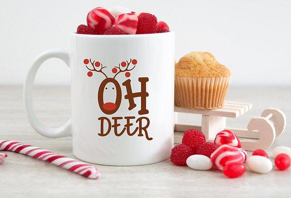 Oh Deer Reindeer Christmas Mug