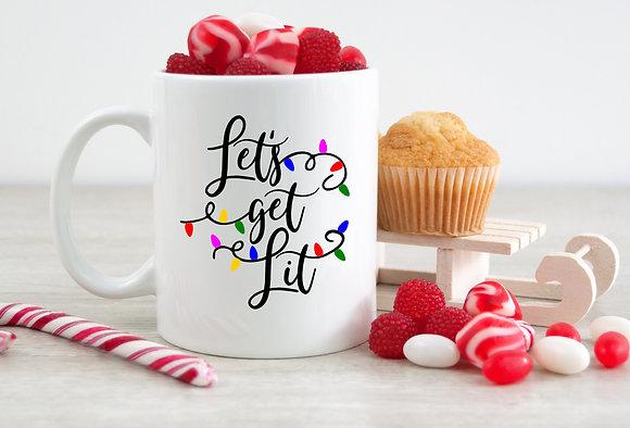 Let's Get Lit Christmas Mug