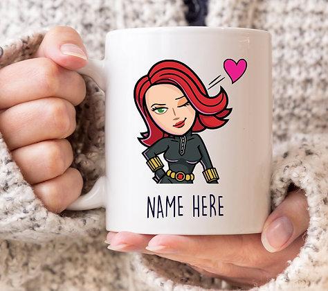 Black Widow Marvel Avengers Superhero Mug