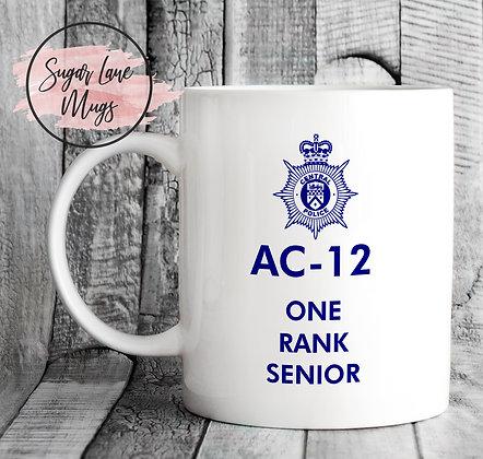 AC-12 Line of Duty One Rank Senior Mug