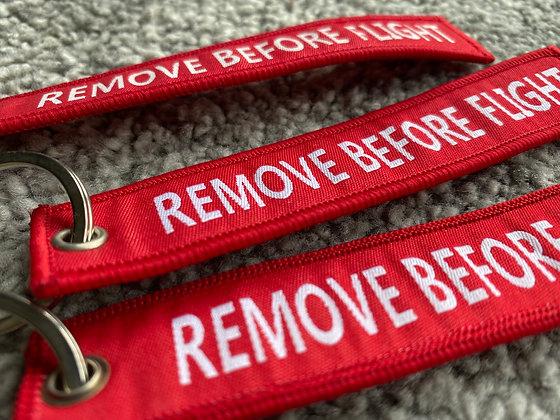 Remove Before Flight Keyring Tag