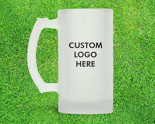 Football 16oz Frosted Beer Stein