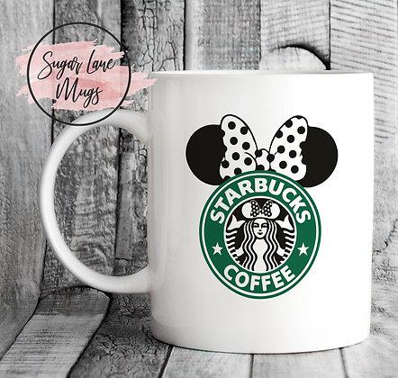 Minnie Mouse Starbucks Style Mug