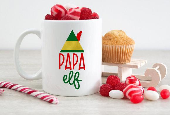 Papa Elf Christmas Mug