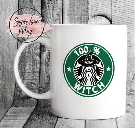 100% Witch Starbucks Style Mug