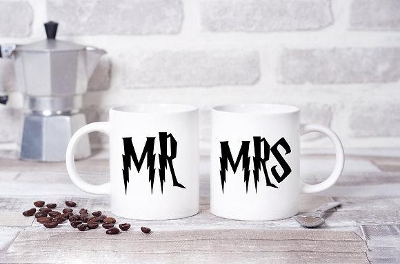Happy Potter Mr and Mrs Twinpack Mugs (x2)