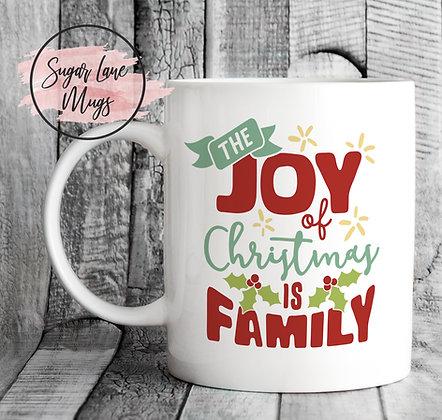 The Joy of Christmas if Family Mug
