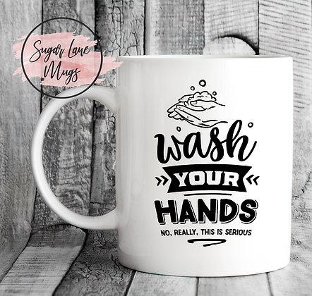 Wash Your Hands NHS Mug