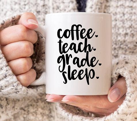 Coffee Teach Grade Sleep Mug
