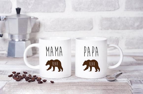 Mama Bear, Papa Bear Twinpack Mugs (x2)