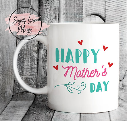 Happy Mothers Day Flower Mug