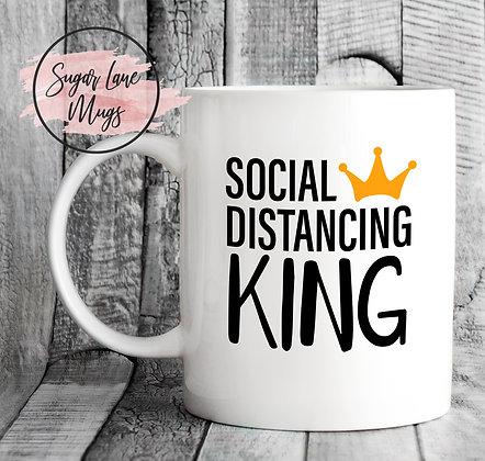 Social Distancing King Mug