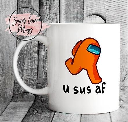 Among Us U Suf AF Game Mug