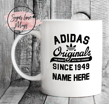 Adidas Originals Since 1949 Personalised Mug