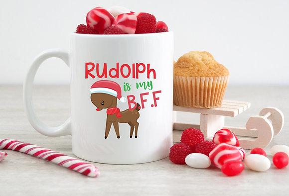 Rudolph Is My BFF Christmas Mug