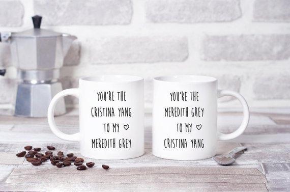Christina to My Meredith Grey's Anatomy Twinpack Mugs (x2)