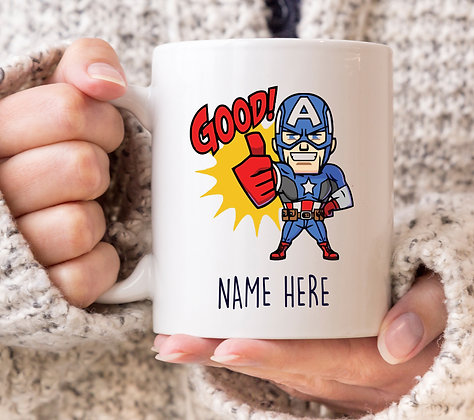Good! Captain America Marvel Avengers Superhero Mug