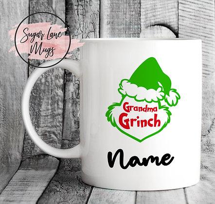 Custom and Personalised Grandma Grinch Mug