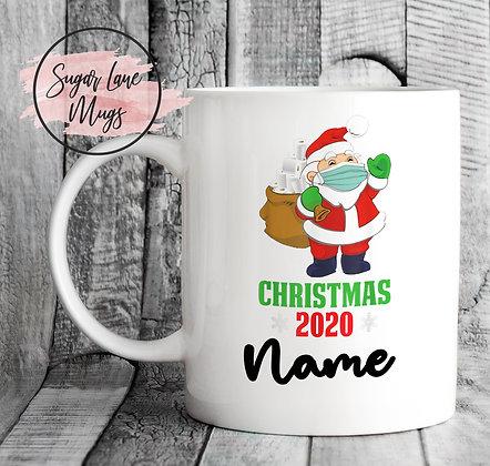 Custom Personalised Santa 2020 Mask Toilet Roll Christmas Mug