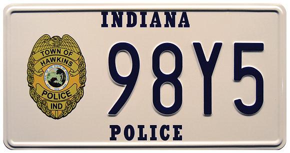 Stranger Things Hoppers Blazer  License Plate