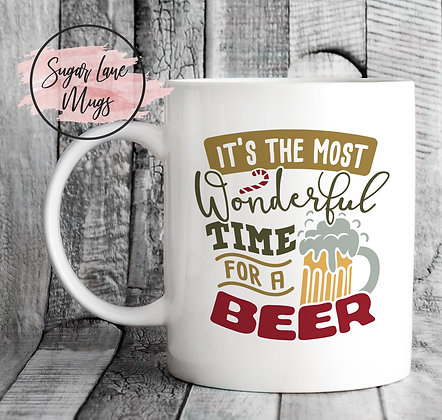 Its The Most Wonderful Time for a Beer Christmas Mug