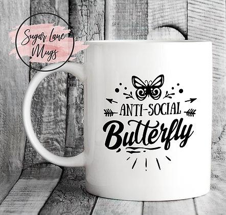 Anti Social Butterfly Mug