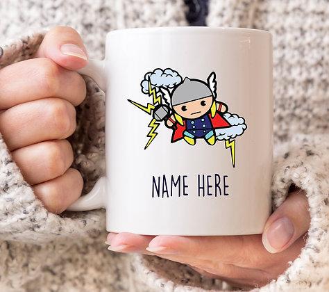 Thor Cartoon Superhero Mug