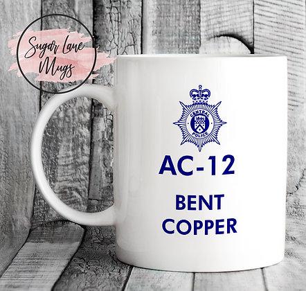 AC-12 Line of Duty Bent Copper Mug