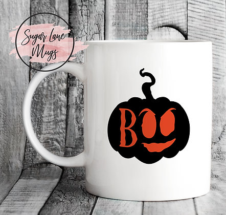 Boo Pumpkin Halloween Mug
