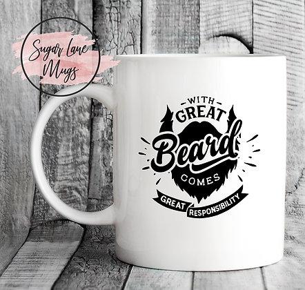 With Great Beard Comes Responsibility Mug