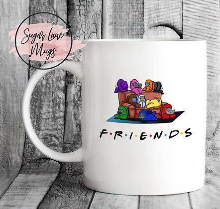 Among Us Friends Style Game Mug