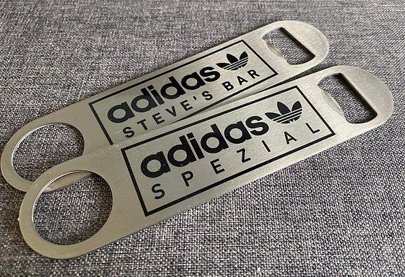 Trefoil Custom Personalised Sneaker Beer Bottle Opener Bar Blade