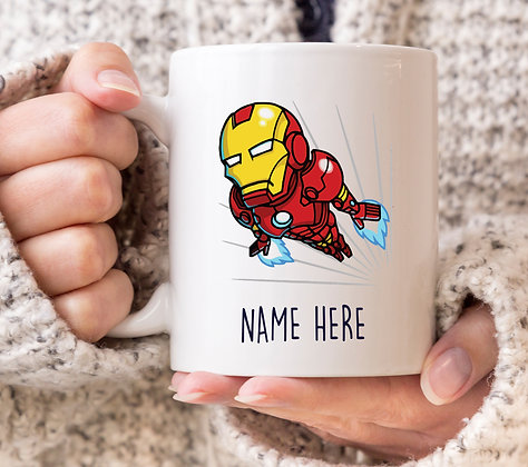 Iron Man Flying Avenger Superhero Mug