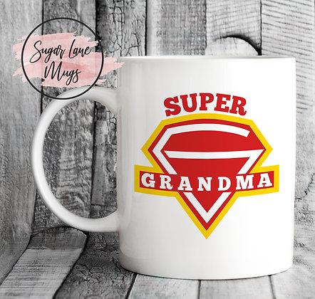 Super Grandma Mothers Day Mug
