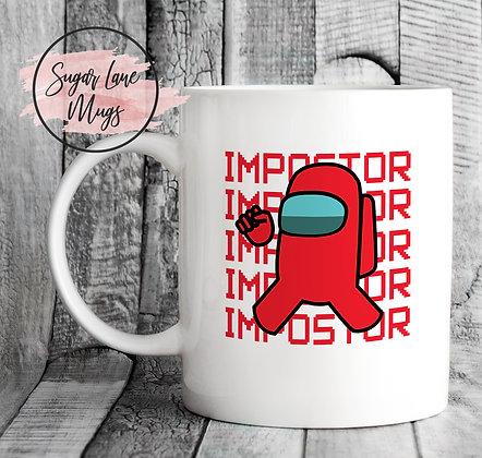 Among Us Imposter Red Game Mug