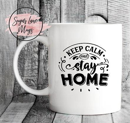 Keep Calm and Stay Home NHS Mug