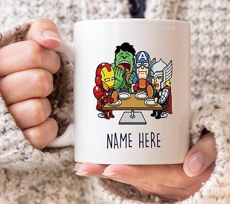 Dinner Table Marvel Avengers Superhero Mug