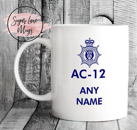 AC-12 Line of Duty *ANY NAME* Mug