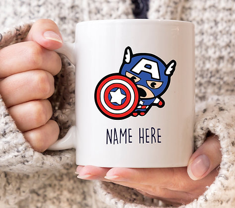 Captain America Cartoon Superhero Mug